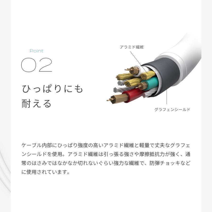 iPhone 充電ケーブル ライトニングケーブル 1.5m 断線に強い やわらか MOTTERU|owltech|03