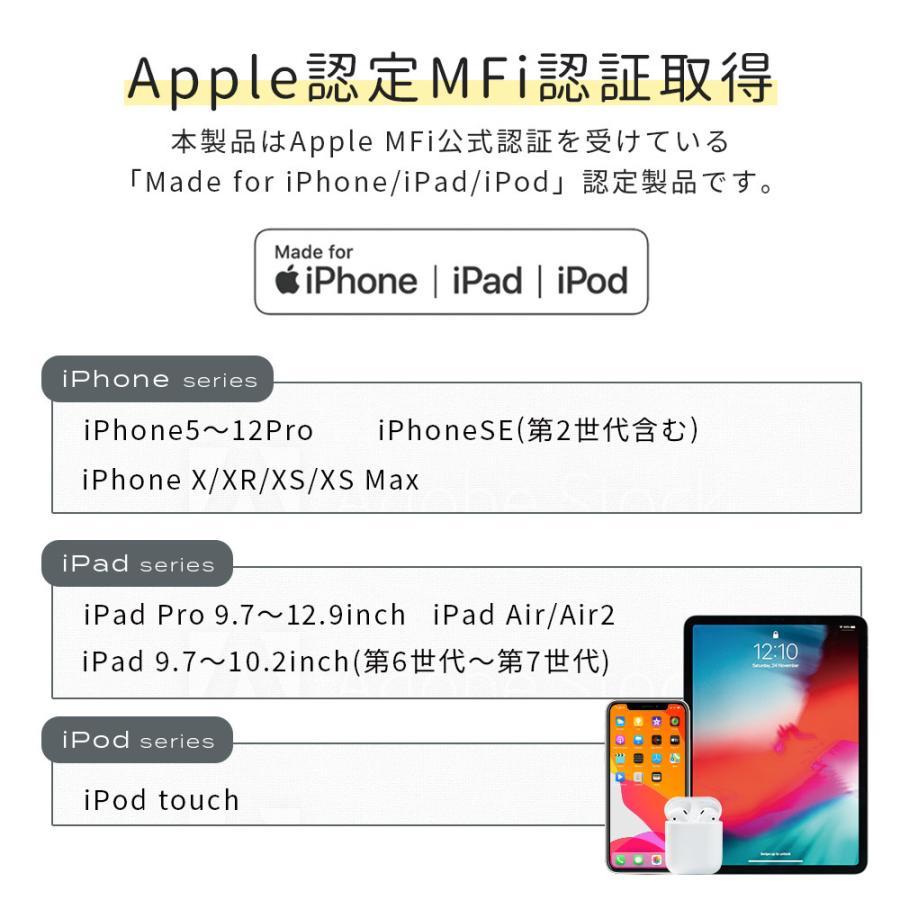 iPhone 充電ケーブル ライトニングケーブル 1m 2m Type-C to Lightning 断線に強い やわらか MOTTERU|owltech|06
