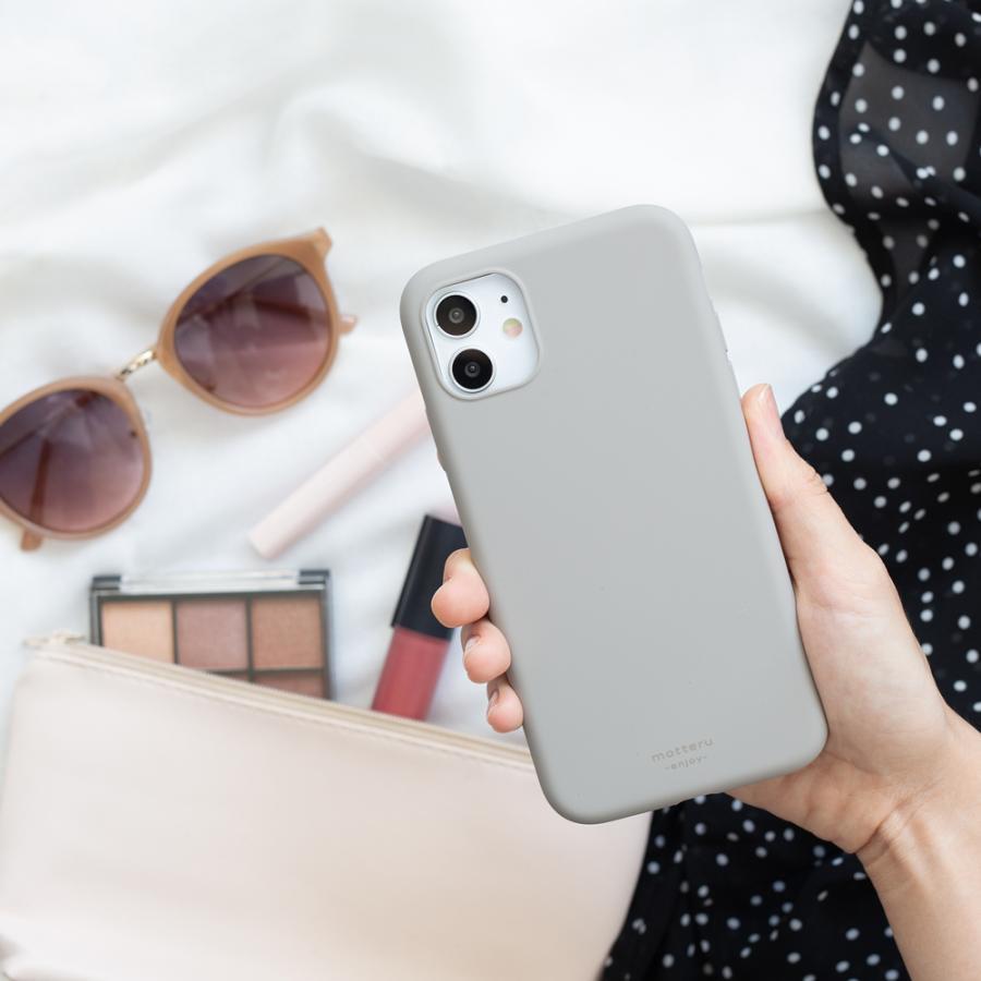 iPhoneケース やわらか ウォーターシリコン 背面ケース マット sofumo MOTTERU|owltech|04