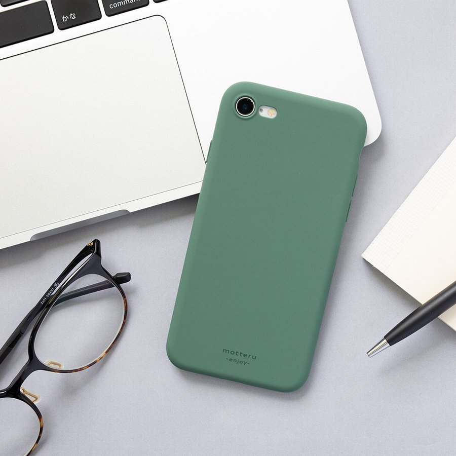 iPhoneケース やわらか ウォーターシリコン 背面ケース マット sofumo MOTTERU|owltech|05