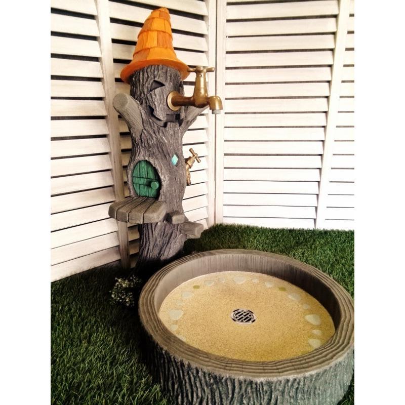 かわいいオバケのツリーハウス 立水栓柱&シンクセット