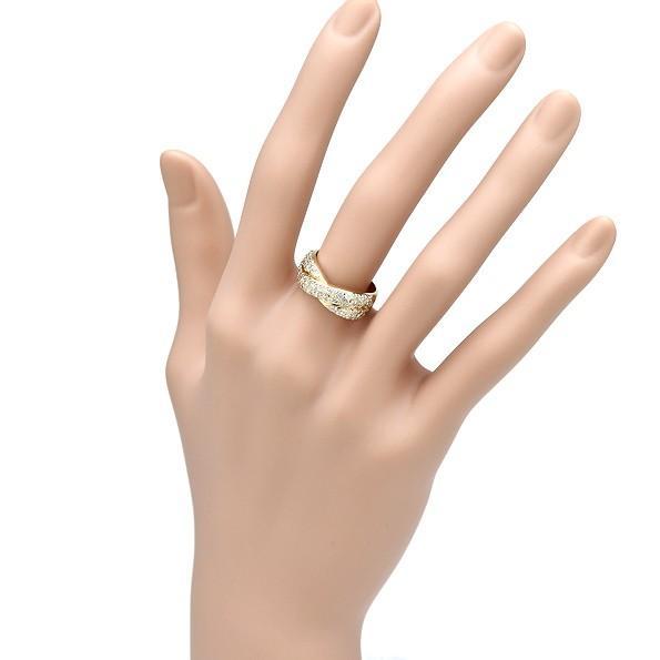 【在庫あり/即出荷可】 指輪 ダイヤ1.00ct パヴェ K18 ゴールド シンプルリング 新品同様, ライダーズプラザアクト 3f8a55cf