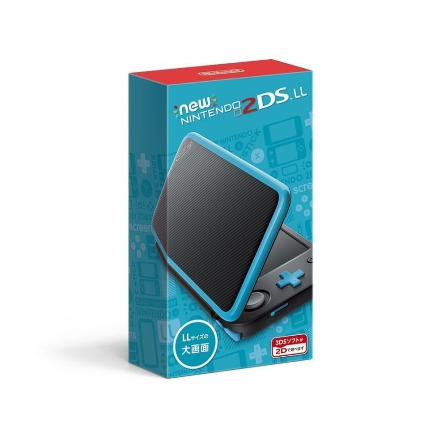 任天堂 Newニンテンドー2DS LL本体 ブラック×ターコイズ 2DSLL 新品
