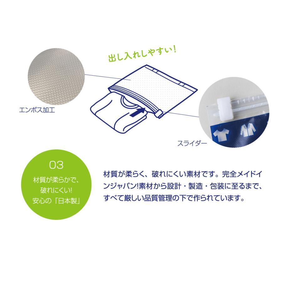 リムーブエアー 衣類圧縮袋 L10枚セット(Lサイズ10枚)衣類圧縮袋 衣類圧縮パック 日本製 旅行用 手押し リムーブエアーL10 送料無料|ozoneassocia|05