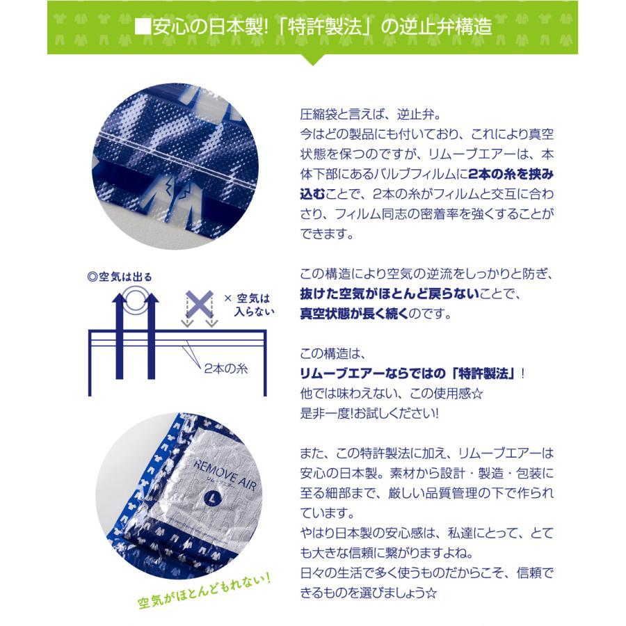 リムーブエアー 衣類圧縮袋 10枚セット(Mサイズ5枚+Lサイズ5枚)衣類圧縮袋 衣類圧縮パック 日本製 旅行用 手押し リムーブエアーML 送料無料 衣類収納|ozoneassocia|05