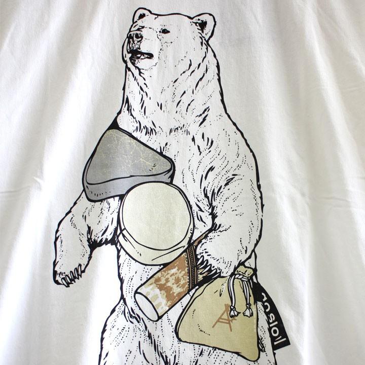 go slow Caravan ゴースローキャラバン おでんポーチ おでぽクマ Tシャツ 白 No.331909|ozshop|03