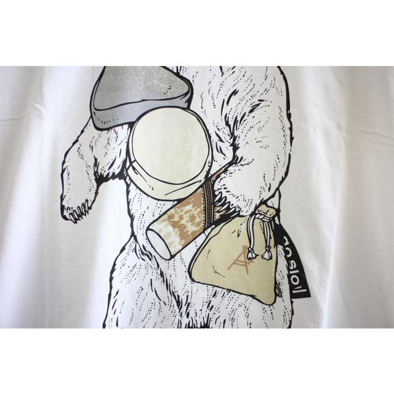 go slow Caravan ゴースローキャラバン おでんポーチ おでぽクマ Tシャツ 白 No.331909|ozshop|04