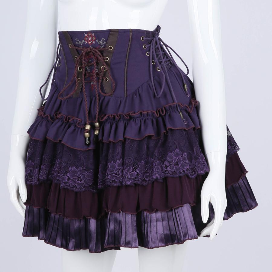 蝶刺繍フリルミニスカート3231608f|ozzonjapan