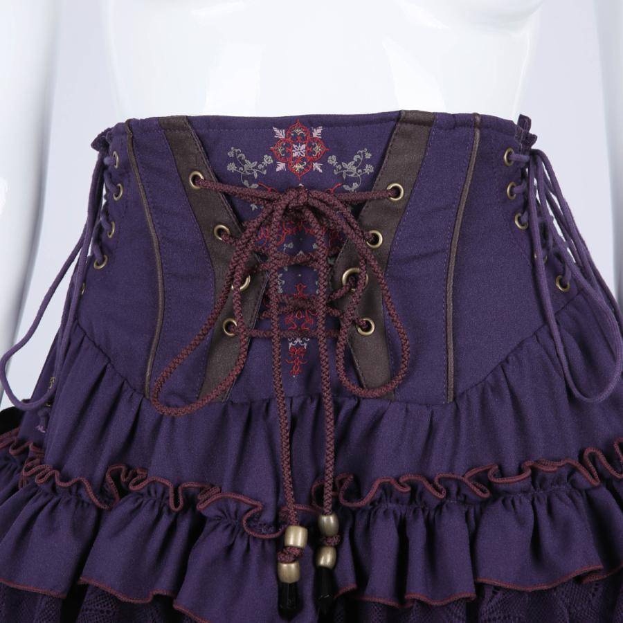 蝶刺繍フリルミニスカート3231608f|ozzonjapan|06