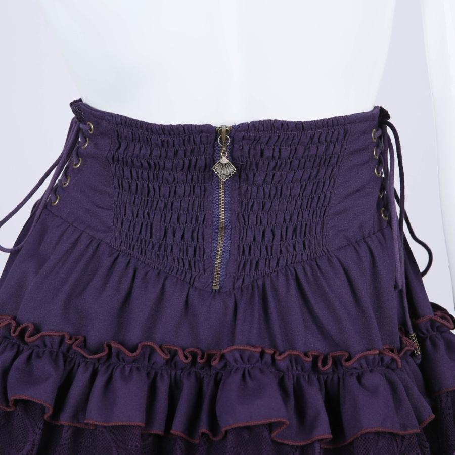 蝶刺繍フリルミニスカート3231608f|ozzonjapan|07
