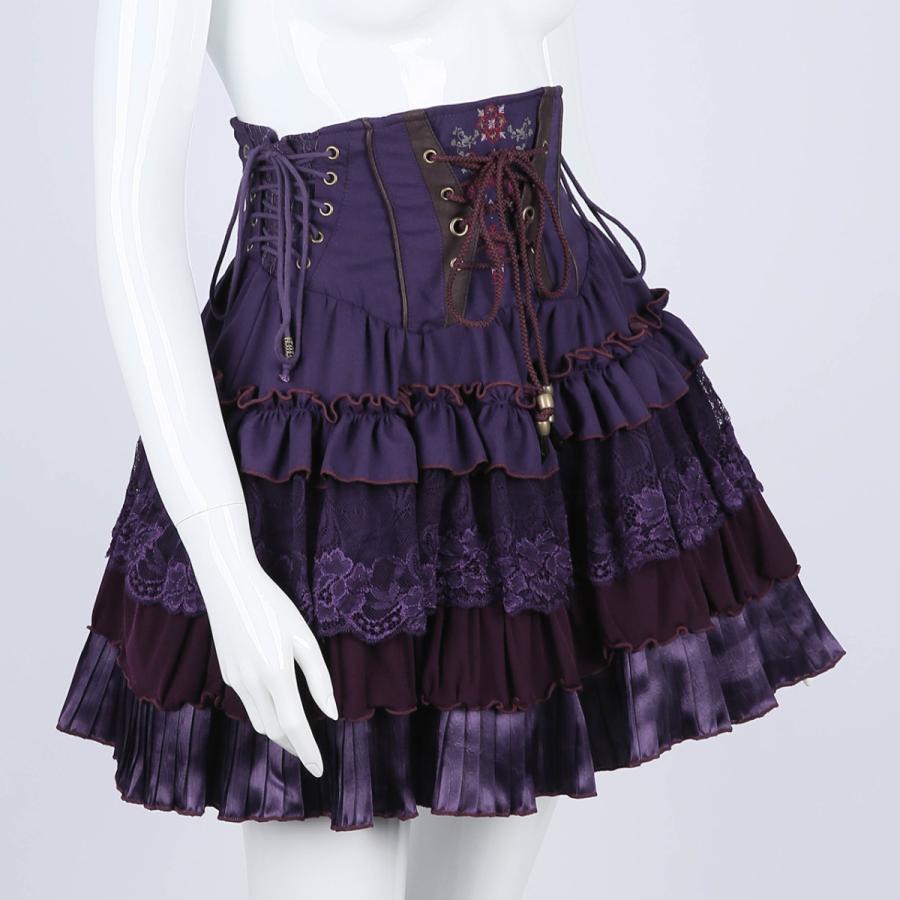 蝶刺繍フリルミニスカート3231608f|ozzonjapan|08