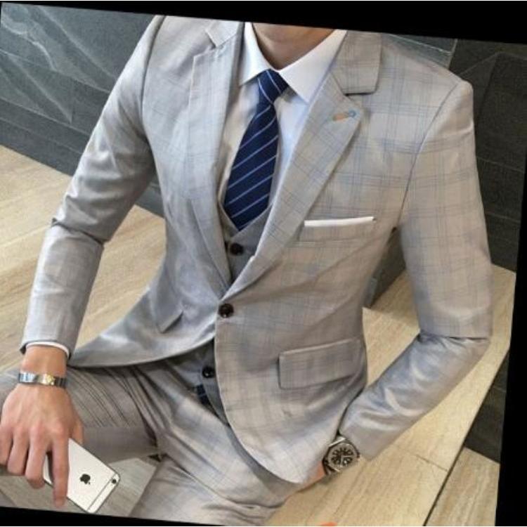 68b240d8c5a2c 紳士スーツセット メンズスーツ 3点セット スリムスーツビジネススーツ ...