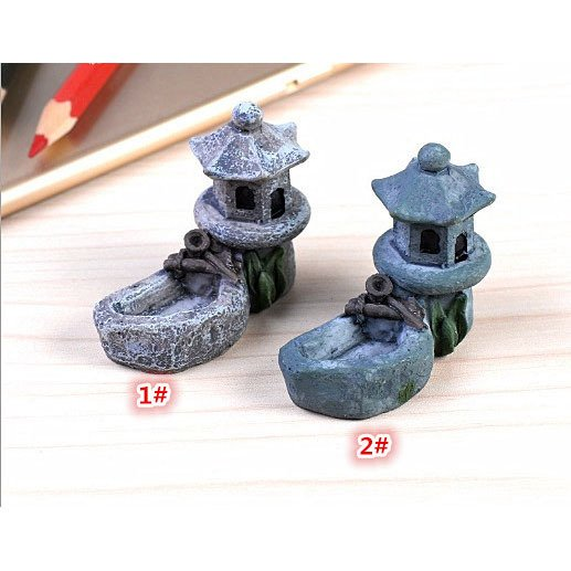 DIY テラリウム フィギュア  ドールハウス ミニチュア 箱庭用 建物 模型 灯篭 苔テラリウム アクアリウム スノードーム コケ 苔 ハンドメイド DIY p-comfort 05
