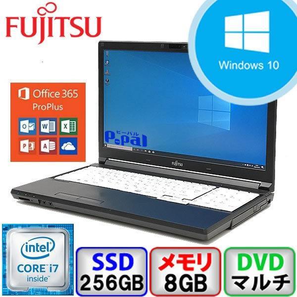 大特価キャンペーン Bランク 富士通 LIFEBOOK A746/P Win10 Core i7 メモリ8GB SSD256GB DVD Webカメラ Bluetooth Office365付 中古 ノート パソコン PC|p-pal
