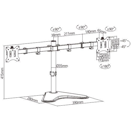 Bランク デュアルモニター 株 トレーダー用 221S6QHAB/11 アナログ[D-sub15] デジタル[DVI] HDMI 21.5インチ 2台 新品モニターアーム付 中古 液晶 ディスプレイ|p-pal|05
