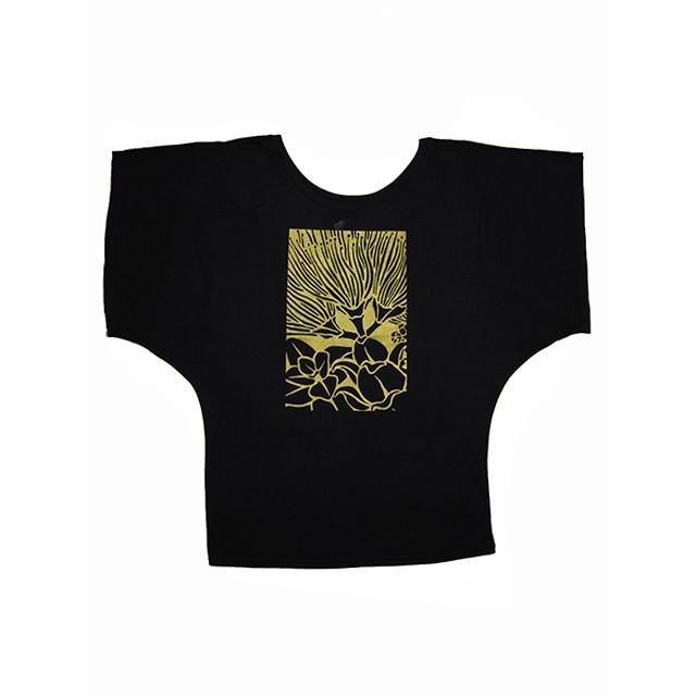 ROCO's ドルマンTシャツ レフア(ブラック) p-para