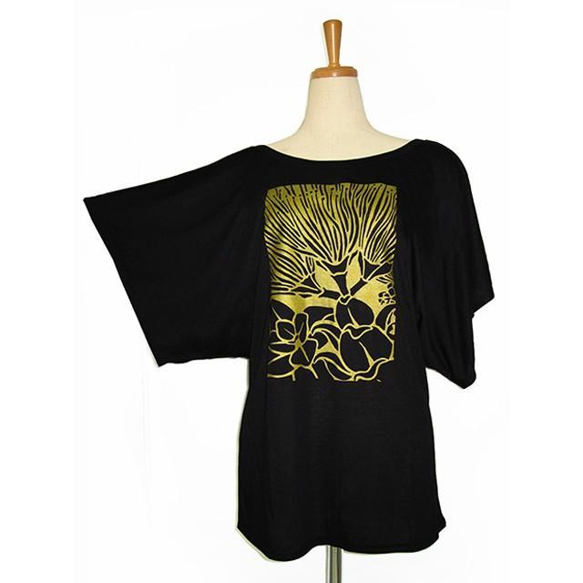 ROCO's ドルマンTシャツ レフア(ブラック) p-para 06