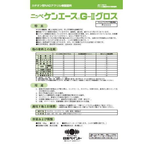ケンエースG2グロス 中彩,7分艶_16kg 日本ペイント 塗料