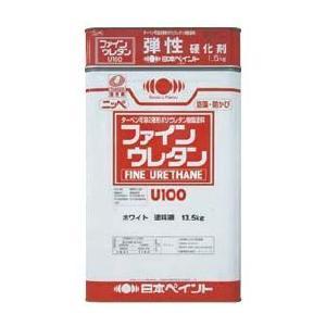 弾性ファインウレタン U100 中彩,艶有_15kgセット 日本ペイント 塗料