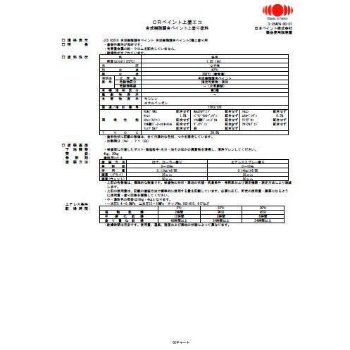 CRペイント 上塗エコ 中彩B,艶消_16kg 日本ペイント 塗料
