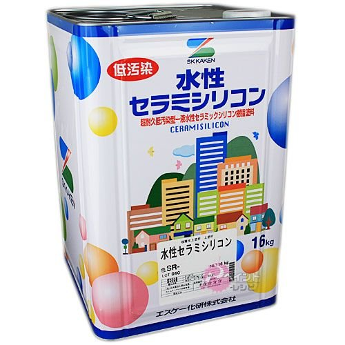 水性弾性セラミシリコン中彩,艶有_16kg エスケー化研 塗料