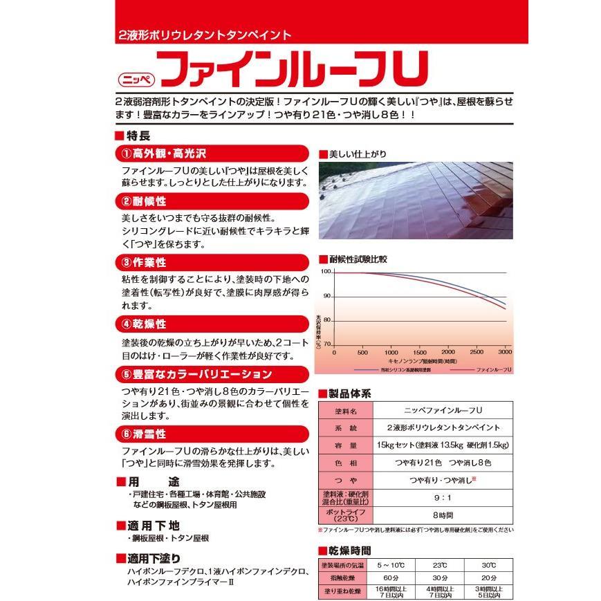 ファインルーフU 艶消し ブラウン 15kgセット 日本ペイント 塗料