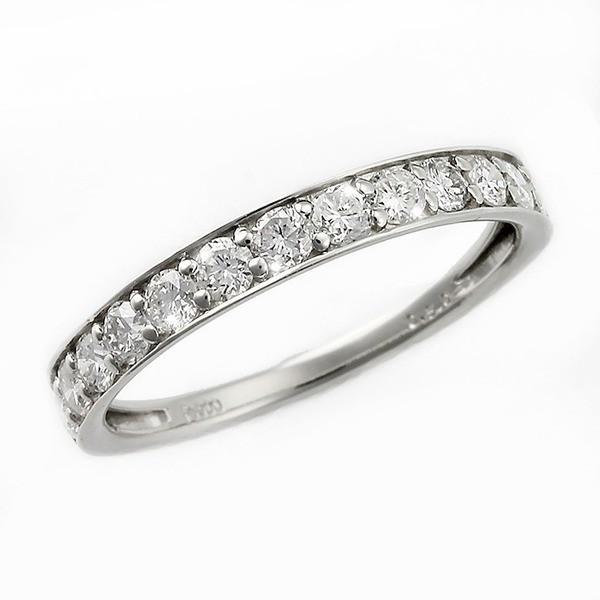 お気にいる ダイヤモンド リング ハーフエタニティ 大粒 1ct プラチナ Pt950 ダイヤ合計13石 ハーフエタニティリング サイズ#13 13号, YATABEカンパニー 3971beb4