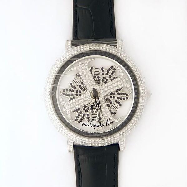 【驚きの値段】 アンコキーヌ ネオ 45mm バイカラー ミニクロス シルバーベゼル インナーベゼルブラック ブラックベルト アルバ 正規品(腕時計・グルグル時計), 加賀郡 0dc8167d