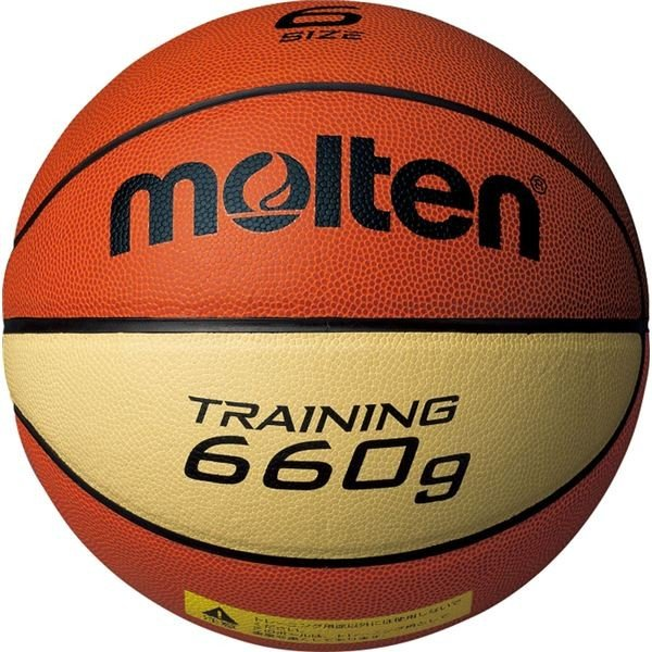 〔モルテン Molten〕 トレーニング用 バスケットボール 〔6号球〕 約660g 人工皮革 9066 B6C9066 〔運動 スポーツ用品〕
