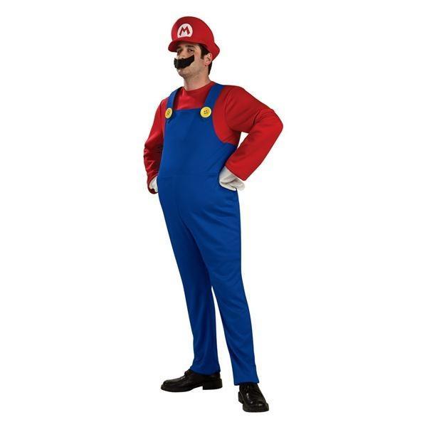 コスプレ衣装/コスチューム 〔Mario Deluxe Adult ジャンプスーツ〕 ポリエステル 『Disguise』 〔ハロウィン〕