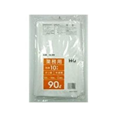 300枚 90L ポリ袋 GL94 半透明 LLDPE 国産品 業務用 品質保証 ゴミ袋 10枚×30冊入 サイズ 0.045mm厚 HHJ