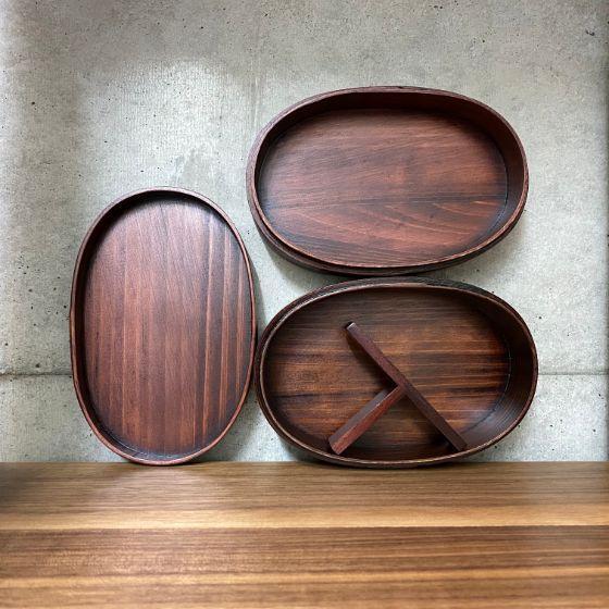 【1個】曲げわっぱ弁当箱 合口型 二段弁当箱 (漆) 木製 おしゃれ かわいい 曲げわっぱ 弁当箱 1個入 package-marche 03