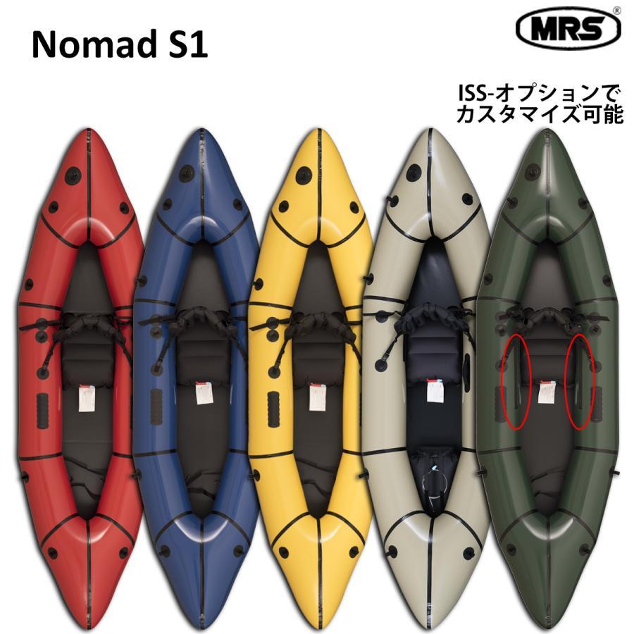 パックラフト MRS SALE インフレータブルボート 軽量 人気上昇中 ボート スピード抜群 ノーマッドS1 NomadS1 本格的 オープンタイプ スプレイデッキなし 折り畳み 1人用