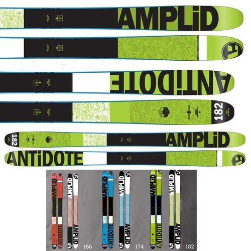 15-16AMPLID スキー板 アンプリッド Ski 2016THE ANTIDOTE (板のみ)フリースタイルスキー
