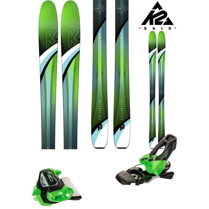 K2 18-19 スキー Ski 2019 FULLUVIT 95 TI (アタック11 GW 金具付き 2点セット) パウダー オールマウンテン レディース (ONE):FULLUVIT95TI_set