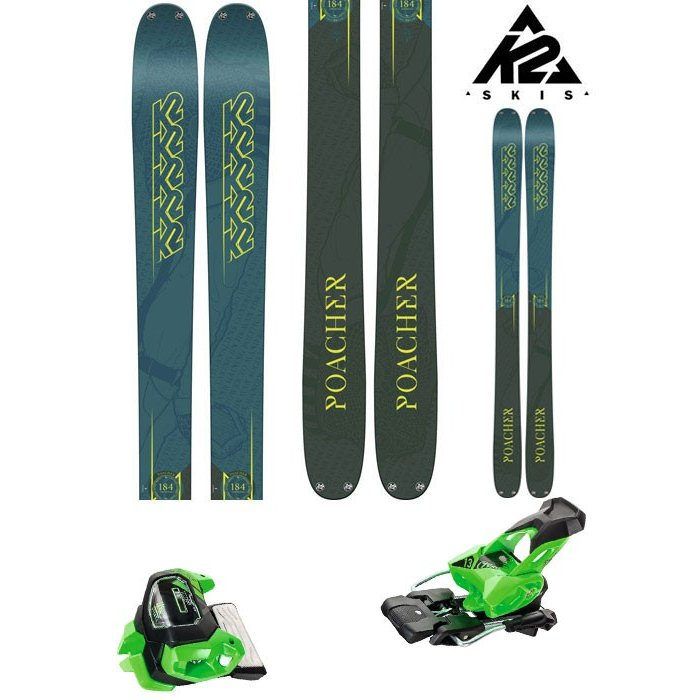 K2 18-19 スキー Ski 2019 POACHER ポーチャー (チロリア アタック13 GW 金具付き 2点セット) フリーライド フリースタイル (ONE):POACHERset