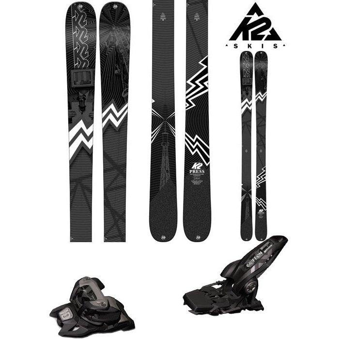 【良好品】 K2 (マーカー 18-19 スキー Ski 2019 PRESS プレス (マーカー プレス GRIFFON 13 13 ID 金具付き 2点セット)フリーライド フリースタイル (ONE):PRESSset, 徳増茶道具専門店:c1081442 --- airmodconsu.dominiotemporario.com