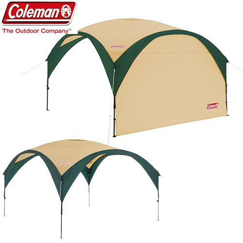 coleman コールマン パーティーシェードDX 300 (グリーン/ベージュ) キャンプ BBQ タープ テント サンシェード 自立式:2000033122