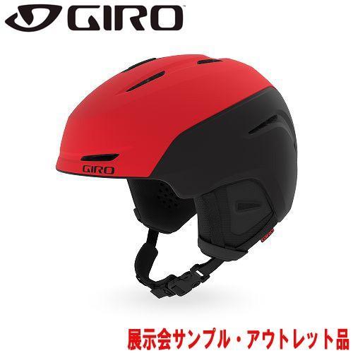 GIRO ジロー 19-20 ヘルメット (アウトレット) 2020 NEO Matte Bright 赤/黒 ネオ スキーヘルメット メンズ アジアンフィット: