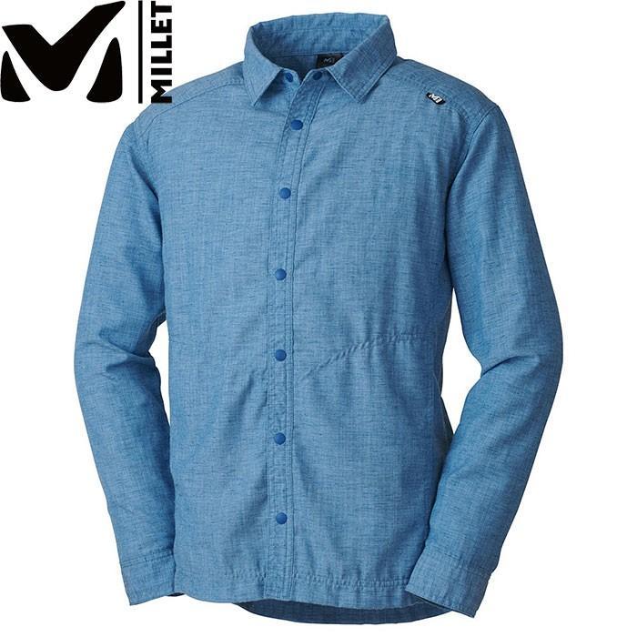 MILLET ミレー FURCIA HT SHIRT LS ロングスリーブ 2019SS アウトドア メンズ (COSMIC-BLUE):MIV01680