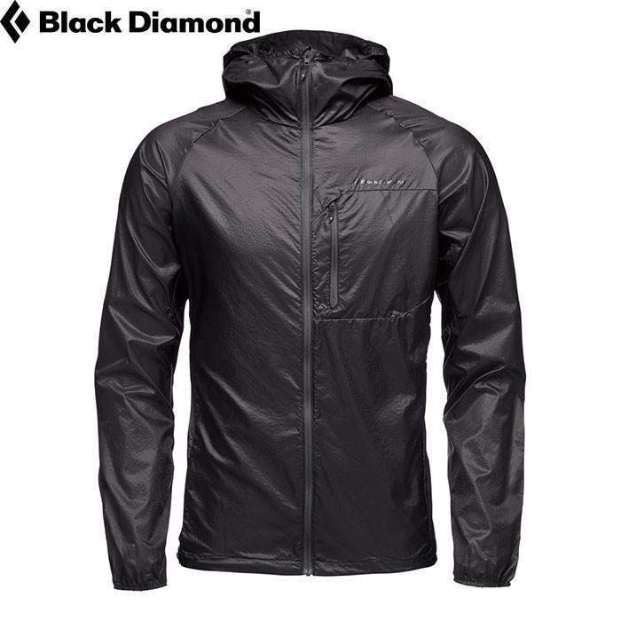 黒DIAMOND ブラックダイヤモンド Ms ディスタンス ウィンド シェル メンズ ジャケット ウィンドブレーカー パーカー 防風 防寒 (ブラック):BD65882
