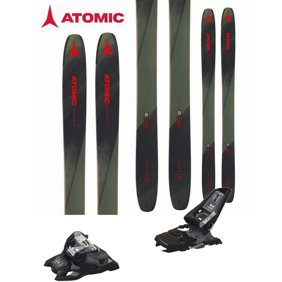 ATOMIC アトミック 18-19 スキー 2019 BACKLAND 117 (マーカー SQUIRE 11 ID 金具付き 2点セット) パウダー ロッカー (one):BACKLAND117SET