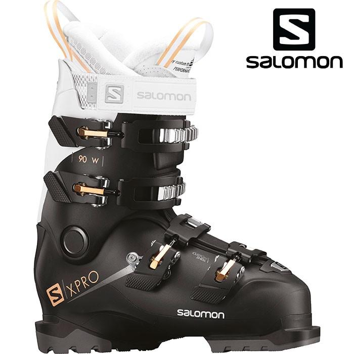 SALOMON サロモン 18-19 スキーブーツ X PRO 90 W エックスプロ90 W〔2019 オールラウンドモデル 上級者 女性用〕 (黒-白い-Corai):L40551700