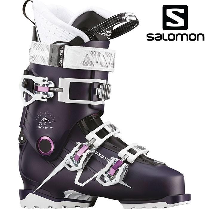 SALOMON サロモン 18-19 スキーブーツ QST PRO 80 W クエストプロ80W〔2019 オールラウンドモデル 上級者 女性用〕 (Eggp-紫の-白い ):L40573400
