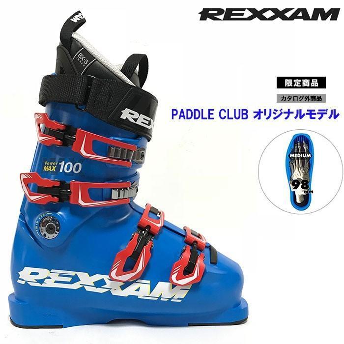 18-19 REXXAM レクザム スキーブーツ Power MAX-100 パワーマックス100(BX-Sインナー)〔2019 上級者モデル 基礎スキー オールランド 〕 (青):X2JK-725P