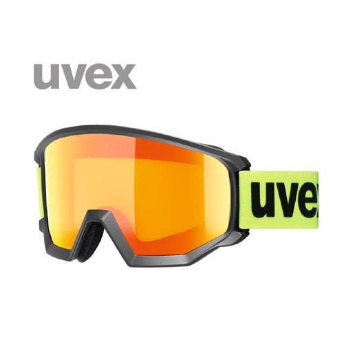 UVEX ウベックス athletic CV ブラックマット/イエロー/オレンジ OTG 眼鏡 シングルレンズ ゴーグル スキー:5505273030
