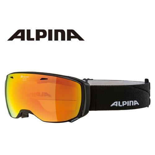 ALPINA アルピナ ESTETICA HM ブラックマット 球面 ミラー ゴーグル スキー:
