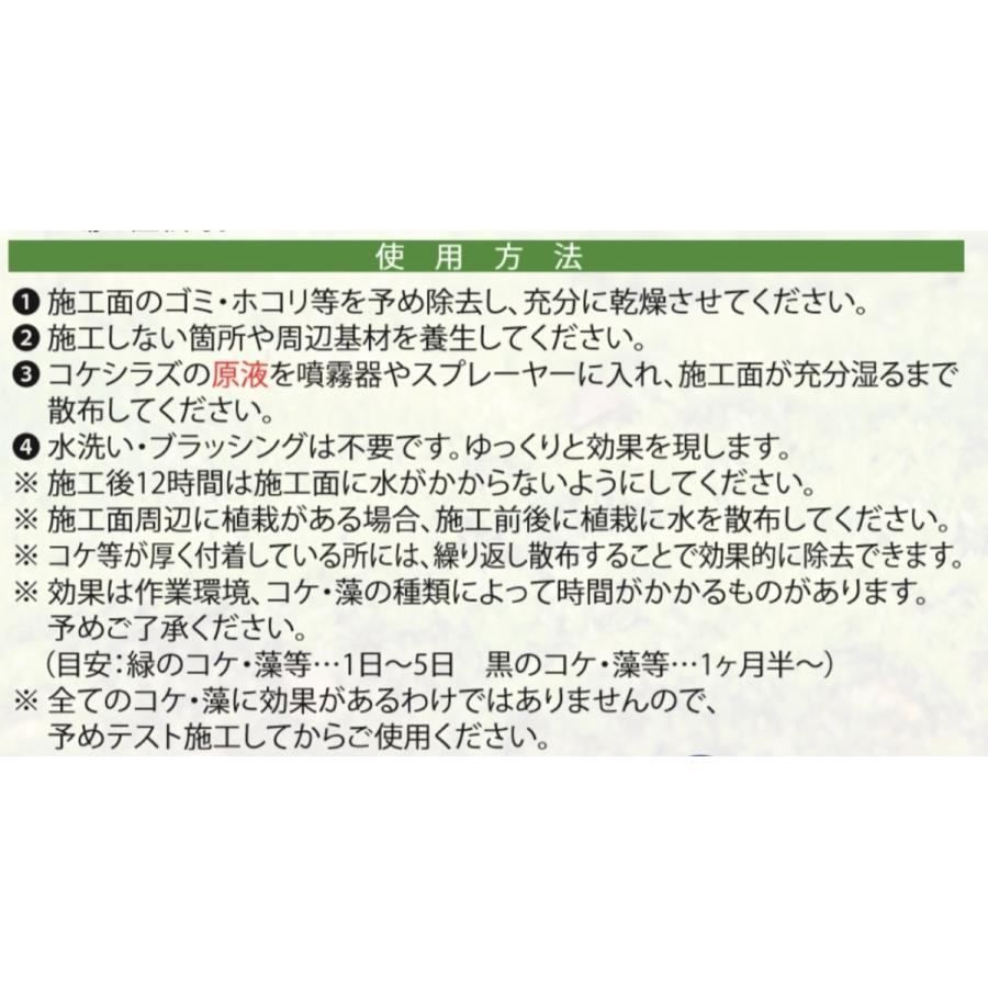 コケシラズ ミヤキ スプレータイプ 1L コケ除去剤 コケ抑制剤 屋外用 paint-color-plaza 04