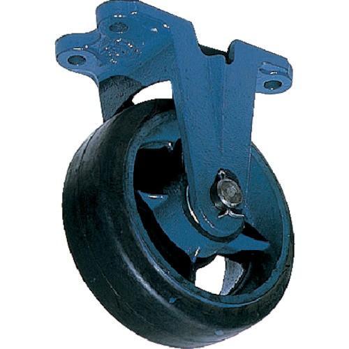 京町 鋳物製金具付ゴム車輪(幅広)(AHU150X75)