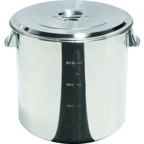 スギコ ステンレスキッチンポット蓋付 400x400 48L 手付(SH4640)